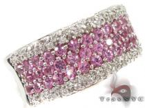 Pink Sapphire Gemstone Diamond Ring 29412 Gemstone Diamond Rings
