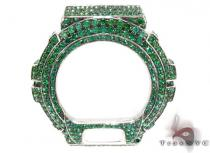 G-Shock Green Color CZ Silver Case G-Shock Watches