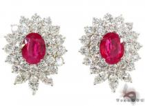 Pigeon Blood Ruby Diamond Earrings ジェムストーンイヤリング
