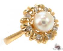 Pearl Diamond Ring 30510 Pearl Diamond Rings