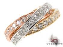 Triple Roll Diamond Ring レディース ダイヤモンド リング