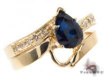 flawless sapphire Saturn Ring Set ジェムストーン ダイヤモンド リング