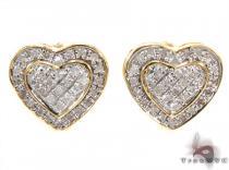 Prong Diamond Silver Earrings 30749 Metal