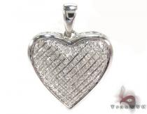 Prong Diamond Silver Pendant 30757 Sterling Silver Charms