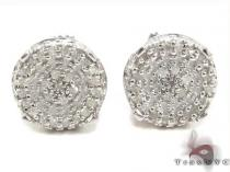 Prong Diamond Silver Earrings 30764 シルバーイヤリング