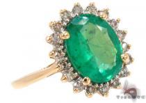 Oval Cut Emerald Diamond Ring ジェムストーン ダイヤモンド リング