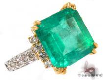 Emerald Jada Ring ジェムストーン ダイヤモンド リング