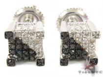 Prong Diamond Earrings 30824 Metal