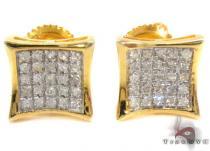 Prong Diamond Earrings 30833 Sterling Silver Earrings