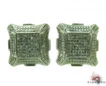 Prong Diamond Silver Earrings 30879 Sterling Silver Earrings