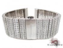 10 Row Silver CZ Watch Band Watch Accessories