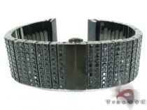 10 Row Silver Black CZ Watch Band Watch Accessories