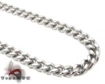 Steel Miami Chain 24 Inches, 8mm, 77 Grams Stainless Steel