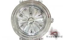 Aqua Techno Speeding White Color Dial with White Color Diamond Watch アクアテクノ