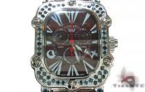 Aqua Techno Stainless Steel Blue Color Diamond Watch アクアテクノ