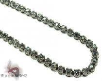 Black Diamond Chain 30 Inches 3.5mm 48.7 Grams Diamond Chains
