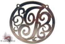 Silver Name Plate Monogram Pendant 31027 シルバーチャーム