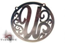 Silver Name Plate Monogram Pendant 31028 シルバーチャーム