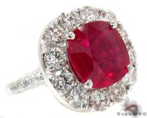 Red Blood Ruby Ring Gemstone Diamond Rings