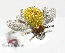 Bumble Bee Ring Colored Diamond Rings