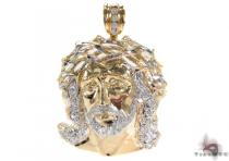 10K Gold Jesus Pendant 31105 Gold Pendants