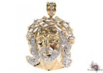 10K Gold Jesus Pendant 31105 Metal