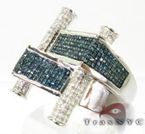 Blue Scroll Ring Mens Diamond Rings