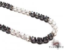 Black and White Diamond Chain 40 Inches, 4mm, 64.7 Grams ダイヤモンド チェーン