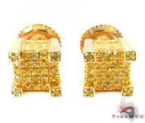 Prong Diamond Silver Earrings 31195 Sterling Silver Earrings