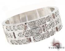 Mens Scattered Three Row Wedding Ring メンズ ダイヤモンド 結婚指輪