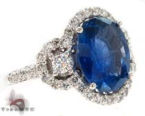 Ladies Night Blue Sapphire Ring Gemstone Diamond Rings