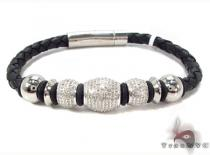 Mens Diamond Bracelet 31321 Stainless Steel Bracelets