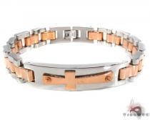 Cross Crucifix Stainless Steel Bracelet 31385 ステンレススティール ブレスレット