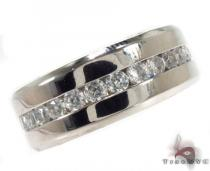 Mens Cheap CZ Stainless Steel Ring Metal