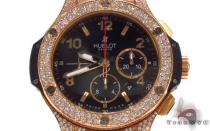 Hublot Rose Color Stainless Steel Diamond Watch Hublot ウブロ