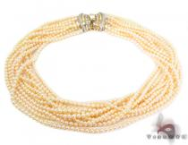 11 Strand Yellow Pearl Necklace パールネックレス