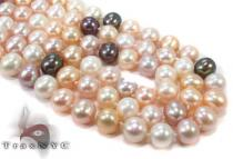 3 Strand Combination Color  Pearl Necklace 31457 Pearl