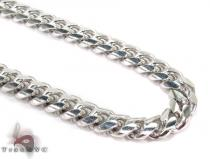 Miami White Silver Chain 36 Inches, 7mm, 102 Grams シルバーチェーン
