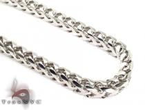 Franco White Silver Chain 36 Inches, 5mm,142 Grams シルバーチェーン