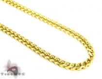 Franco Yellow Silver Chain 36 Inches, 3mm,61.5Grams シルバーチェーン
