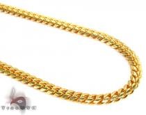 Miami Yellow Silver Chain 36 Inches, 6mm, 86.5Grams Silver Chains
