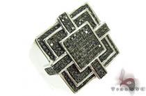 Prong Black Diamond Silver Ring 31488 Metal