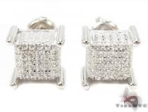 Prong Diamond Silver Earrings 31499 Sterling Silver Earrings