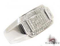 Mens Affordable Prong Diamond Silver Ring Metal