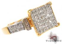 Micro-Pave Diamond Silver Ring 31521 Silver Rings For Women