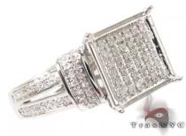 Micro-Pave Diamond Silver Ring 31522 Silver Rings For Women
