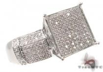 Silver & Micro-Pave Diamond Ring 31524 Silver Rings For Women