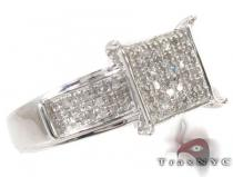 Micro-Pave Diamond Silver Ring 31527 Silver Rings For Women