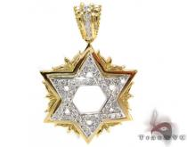 18K Gold Channel Diamond Star Pendant 31533 Diamond Pendants