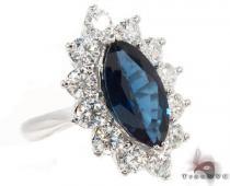 marquise cut Sapphire & Diamond Ring 31542 ジェムストーン ダイヤモンド リング